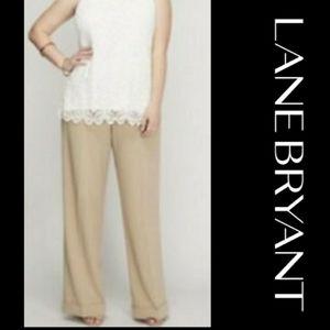Lane Bryant | Beige Wide Leg Trousers